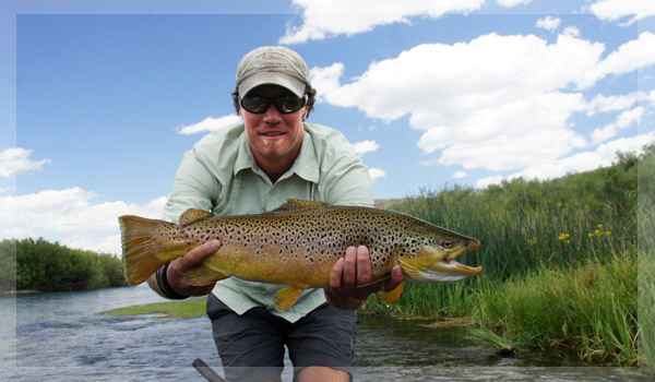 guide Andy Bennett with Beaverhead River Brown Trout