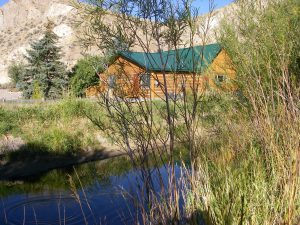 Montana Fly Fishing Lodge with rising trout
