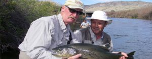 beaverhead guide holding huge brown trout