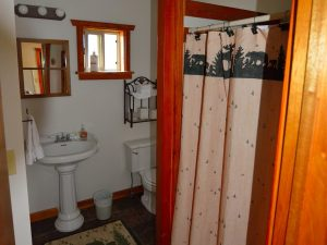 Bathroom with shower at our Bed & Breakfeast