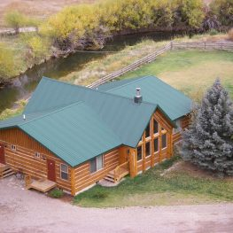 Montana fly fishing lodge by creek
