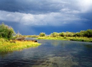 beaverhead river on a stormy day